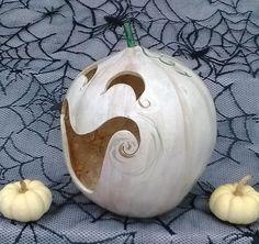 Halloween Gourd JackOLantern with by LindaFrenchGallery on Etsy, $30.00