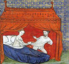 seduction of Lancelot  'Le livre de Lancelot du Lac', France ca. 1401-1425  Paris, Bibliothèque de l'Arsenal 3480, p. 33