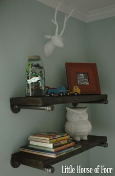 {diy} Steel Shelves...