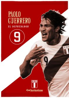 Paolo Guerrero peruvian soccer player //    www.cargocollective.com/doubleview