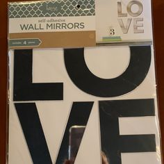 *NIP* 4pc self-adhesive WALL MIRRORS