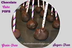 Chocolate Cake Pops {Sugar-Free, Grain-Free}