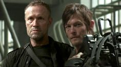Too much badassery for the Apocalypse to handle - The Dixon Brothers. Michael Rooker as Merle Dixon and Norman Reedus as Daryl Dixon. #gc