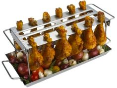 Grilling Wing Rack - Grilling wings just got a lot easier.