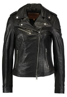 Goosecraft BIKER - Leather jacket - black for £164.99 (12/12/17) with free delivery at Zalando