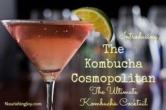 Kombucha Cosmopolitan: The Ultimate Kombucha Cocktail - Nourishing Joy