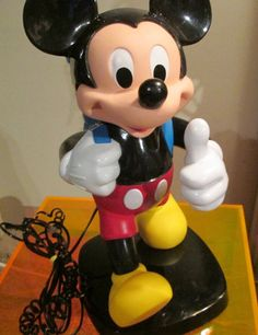 Vintage Mickey Mouse working corded phone by FriendsRetro on Etsy