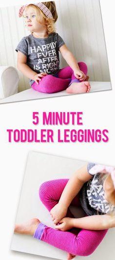 5 Minute Toddler Leggings