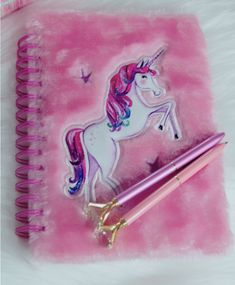 Unicorn pink notebook