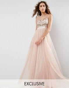 Needle and Thread Embroidered Bodice Maxi Dress With Tulle Skirt