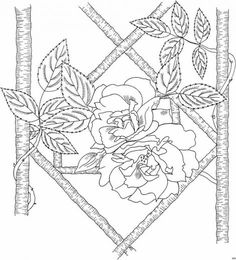 frisco mit zaun - blumen | rose coloring pages, coloring pages, rose line art