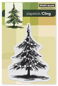 Tannenbaum (Christmas Tree) - Slapstick Cling Stamp by Penny Black ($9.76)