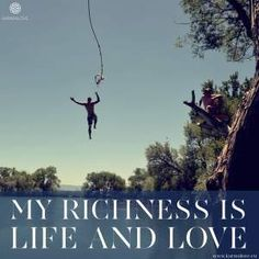 My Richness is life and love Positive Messages, Inspire Others, Virtual World, Real Life, Positivity, Yoga, Quotes, Qoutes, Quotations