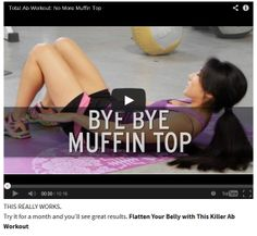 Total Ab Workout Video – Lose your Muffin Top Fast