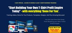 T-Shirt Profit Empire shows you everything you need to know about starting your own profitable t-shirt business from the ground up. Everything needed to start own your business.  #tshirts #tshirt #fashion #tshirtdesign #hoodies #tees #clothing #shirts #tshirtshop #apparel #style #tshirtprinting #tshirtstore #design #love #moda #art #streetwear #tshirtslovers #shirt #tee #clothingbrand #clothes #customshirts #mensfashion #screenprinting #onlineshopping #teeshirts #custom #bhfyp Screenprinting, Tee Shirts, Tees, New T, Custom Shirts, Streetwear, Empire, Hoodies, Business