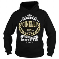 I Love CINELLI .Its a CINELLI Thing You Wouldnt Understand - T Shirt, Hoodie, Hoodies, Year,Name, Birthday T shirts