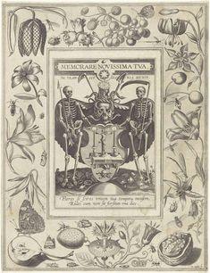 """thefugitivesaint:  """"Joris Hoefnagel (1542-1601) (after Hieronymus Wierix), 'Allegorie van de dood' (Allegory of Death), printed by Michael Snijders, 1610-72  Source: https://www.rijksmuseum.nl/en/collection/RP-P-1878-A-1585  """""""