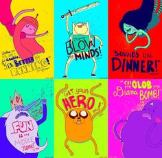 Adventure Time 6-Poster Set by OMOcat on Etsy.
