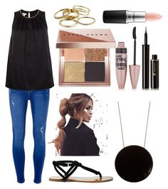 """Black"" by brighteyes711 ❤ liked on Polyvore featuring Sole Society, Sportmax, Bobbi Brown Cosmetics, Dorothy Perkins, Monsoon, Maybelline, Lancôme, MAC Cosmetics and Kendra Scott"