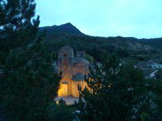 Así se ve el anochecer en Santa Cruz de la Serós desde nuestro hotel.