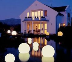 Moonlight Globe - Cordless Floating Lights in White for pool... So beautiful.