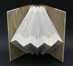 Used book 'The_calligrapher' folded into art by Marianne Perlak