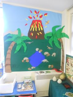 Dinosaur land and dinosaur dig role play for reception class