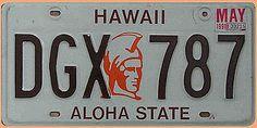 US - Nummernschild aus Hawaii - Aloha State - Hausnummern und Schilder online kaufen