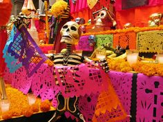 Día de muertos -- Check out La Fuente Imports wide variety of 'Day of the Dead' art & decor today: http://www.lafuente.com/Mexican-Art/Day-of-the-Dead/