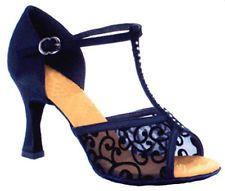 New Ladies Women's Tango Ballroom Latin Salsa Dance Heeled Shoes
