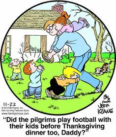 Family Circus Cartoon for Nov/22/2012