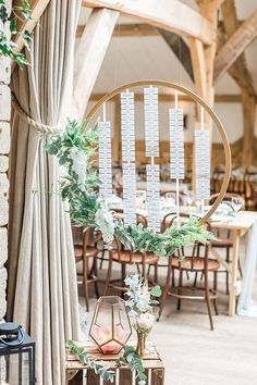Hoop Table Plan | Wedding Decor | Marble, Copper & Greenery Wedding at Cripps Barn Cotswolds | Summer Lily Studio Photography