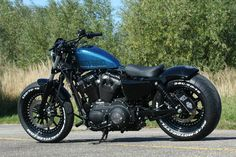 Racing Cafè: Harley Sportster 48 by Rick's Motorcycles Harley Davidson 48, Harley Davidson Motorcycles, Custom Motorcycles, Custom Choppers, Harley Sportster 48, Hd Sportster, Custom Bobber, Custom Harleys, Harley 48
