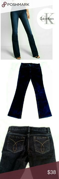"""*LIKE NEW* CALVIN KLEIN TALLA JEANS """"LIKE NEW"""" CALVIN KLEIN """"TALLA"""" BOOT CUT JEANS Pic for Image/EUC *   Dark Wash Like New *   69% Cotton 30% Polyester 1% Elastane *   Approx Meas; W 27"""" Inseam 32"""" Rise 8"""" Calvin Klein Pants Boot Cut & Flare"""