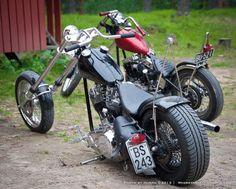 Custom Bobber, Custom Choppers, Custom Motorcycles, Custom Bikes, Big Dog Motorcycle, Motorcycle Couple, Chopper Motorcycle, Bobber Chopper, Old School Chopper