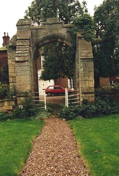 "Kettlethorpe    Actual medieval manor in which the real Katherine Swynford, 3rd wife of John of Gaunt and ancestress to the Tudor line, lived. She is the main character in Anya Seton's ""Katherine.""  This 14th cen. gateway and the cellars beneath the manor house are all that's left of the manor from her time."
