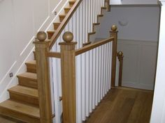 White Oak Stained 2 - The Handrail Man - Balustrades
