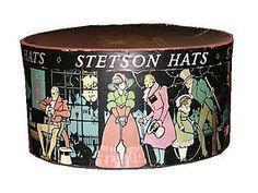 vintage stetson hat box pre 1920
