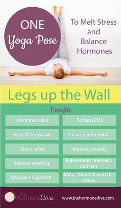 One Yoga Pose to Melt Stress and Balance Hormones | Infographic | The Hormone Diva