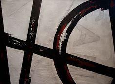 « Made in Canada » 41″ x 55″ (approximativement) recyclé/récupération peinture sur voile voilier (voiles), tendu sur un cadre à la main, en bois de