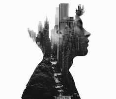 Creative Photography, Blissful, Double, Exposure, and Portraits image ideas & inspiration on Designspiration Portraits En Double Exposition, Creative Photography, Portrait Photography, Photo Hacks, Double Exposure Photography, Mixed Media Photography, Multiple Exposure, Double Exposure Effect, Photo D Art