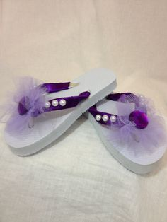 Sofia the First Inspired Flip Flops. $18.00, via Etsy.