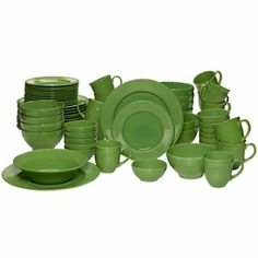 """Kamryn by Pfaltzgraff®. 62-pc Set includes 12 dinner, salad plates, soup bowls, fruit bowls, mugs, 1 9"""" bowl & 1 12"""" platter.  $300 at JCPenney.  posted Mar 4, 2014"""