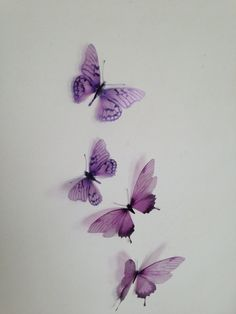 4 Luxury Amazing Lilac  Butterflies 3D  by MyButterflyLove on Etsy, $12.50