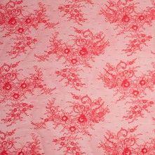 Melon Floral Lace Fabric