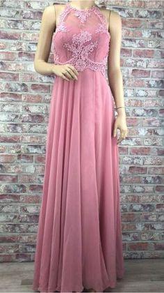 19649b54ceb8 Dlhé spoločenské čipkované šaty ružovej farby
