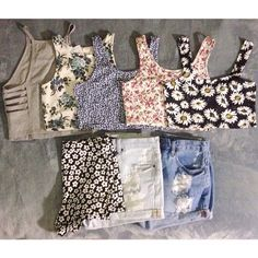 Tops and.shorts for.summer. Outfits for summer perfect, so cute and fashion