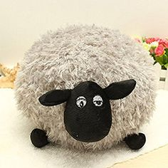 1 of 4 Color Shaun Sheep Plush Doll Pillow Lamb Doll Birthday Gift Toys - Color:Gray