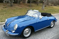1962 Porsche 356B/1600 Reutter Cabriolet, Oslo Blue over grey leather interior. Complete restoration and priced at $135,000.00 on eBay.