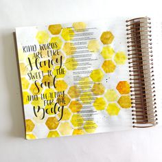 Bible Journaling With Me- Watercolor Honeycomb- With A Free Printable - Scribbling Grace Bible Drawing, Bible Doodling, Bible Verses Quotes, Bible Scriptures, Bibel Journal, Bible Notes, Illustrated Faith, Lettering Tutorial, Bible Art